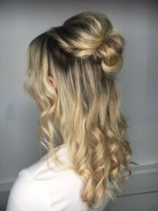 Leah's winning hairstyle