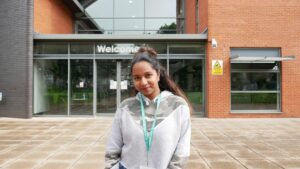 Adeline celebrates her GCSE results